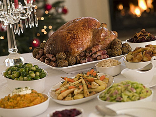 cena nutritiva y saludable en navidad